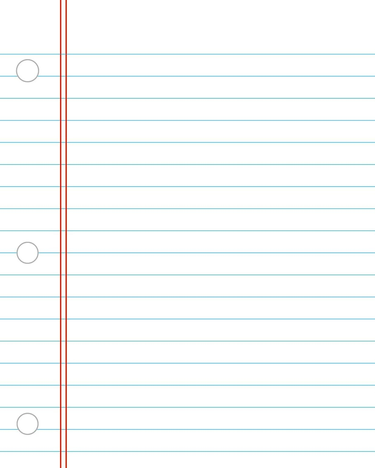 Printable Notebook Paper College & Wide Ruled - Free Printable Notebook Paper