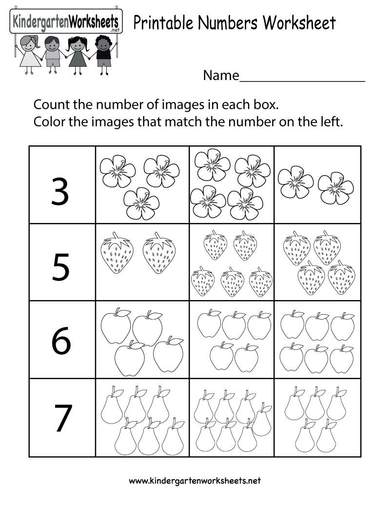 Printable Numbers Worksheet - Free Kindergarten Math Worksheet For Kids - Free Printable Number Worksheets For Kindergarten