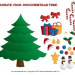 Printable Paper Christmas Tree Template, Clip Art, & Coloring Pages   Free Printable Christmas Tree Ornaments Coloring Pages