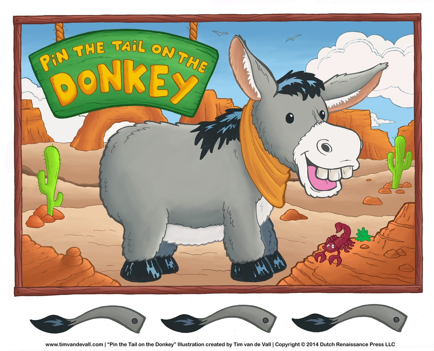 Printable Pin The Tail On The Donkey Game | Birthday Party Activities - Pin The Tail On The Donkey Printable Free