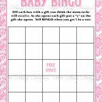 Printable Pink Damask Baby Shower Bingo Game Instant Download   Bee   Baby Bingo Game Free Printable