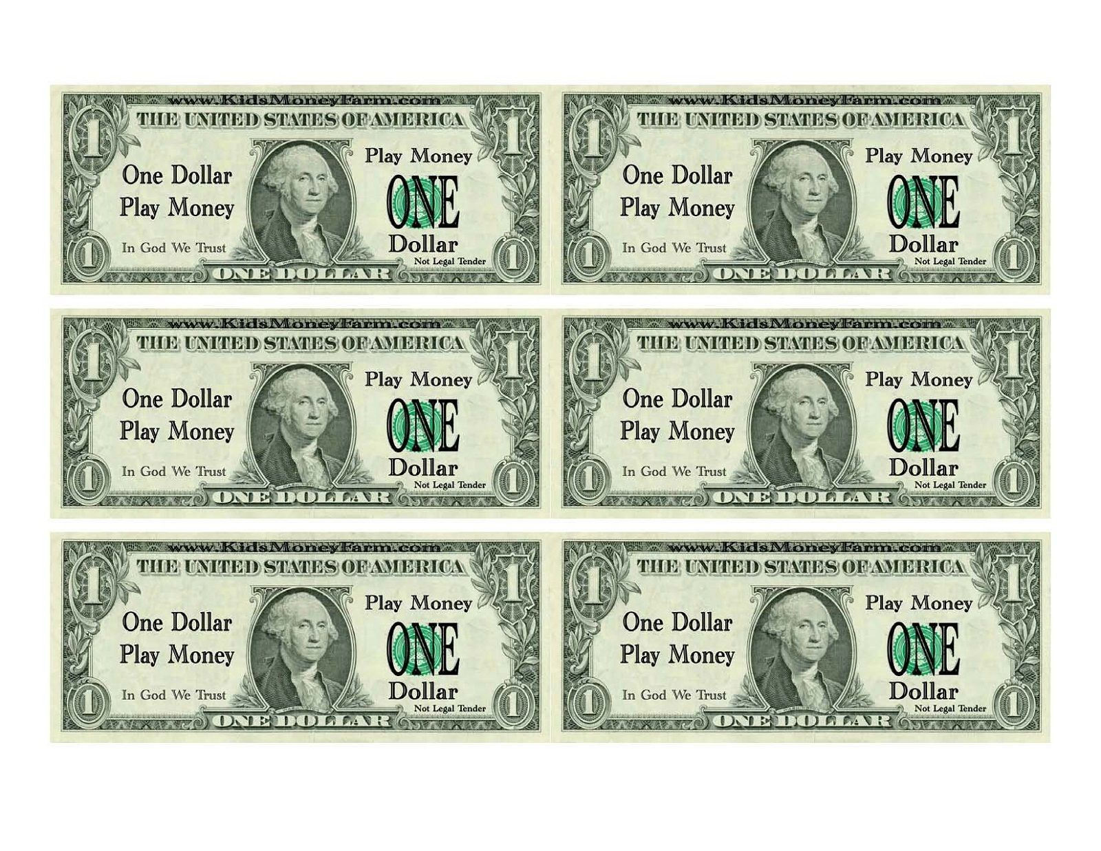 Printable Play Money For Kids   Printable   Printable Play Money - Free Printable Fake Money That Looks Real