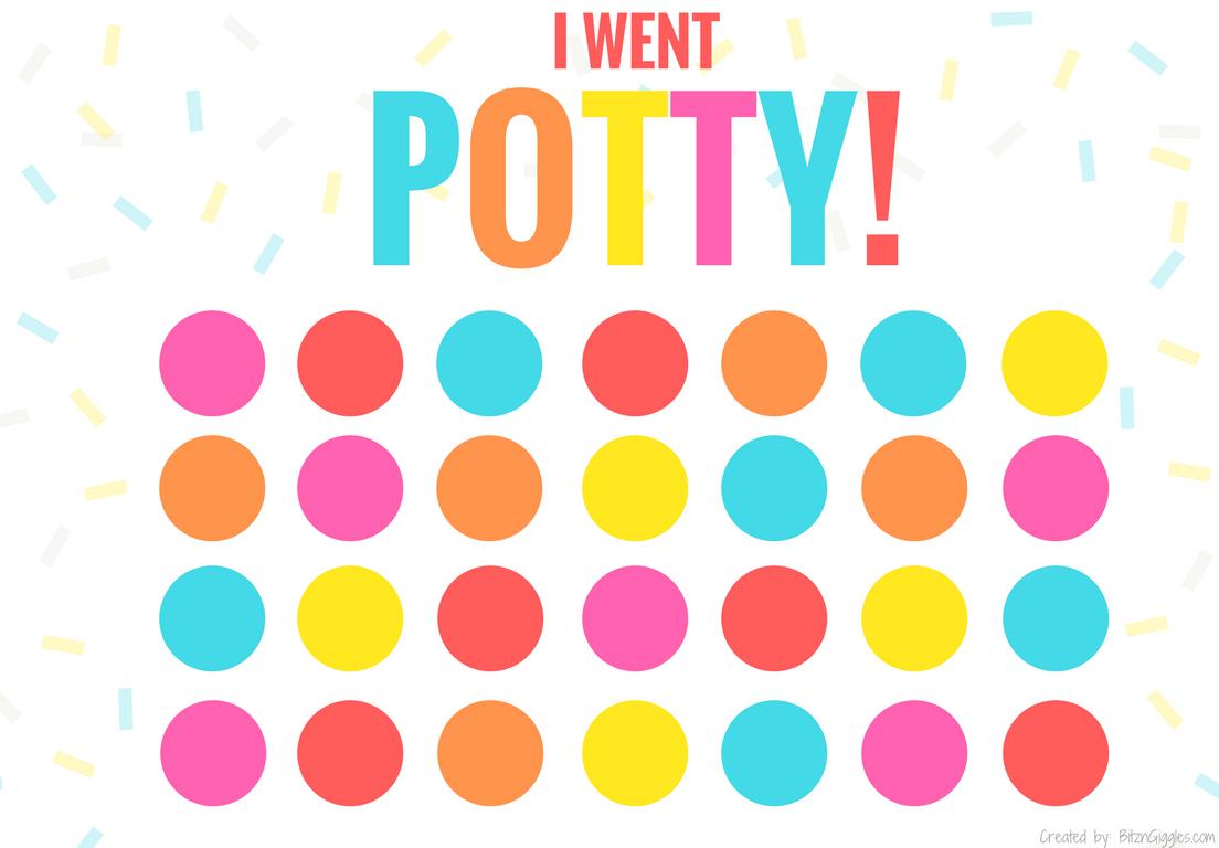 Printable Potty Training Chart - Bitz & Giggles - Free Printable Potty Charts