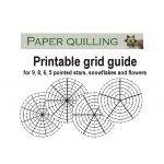 Printable Quilling Grid Guide For 5, 6, 8, 9 Pointed Stars   Free Printable Quilling Patterns