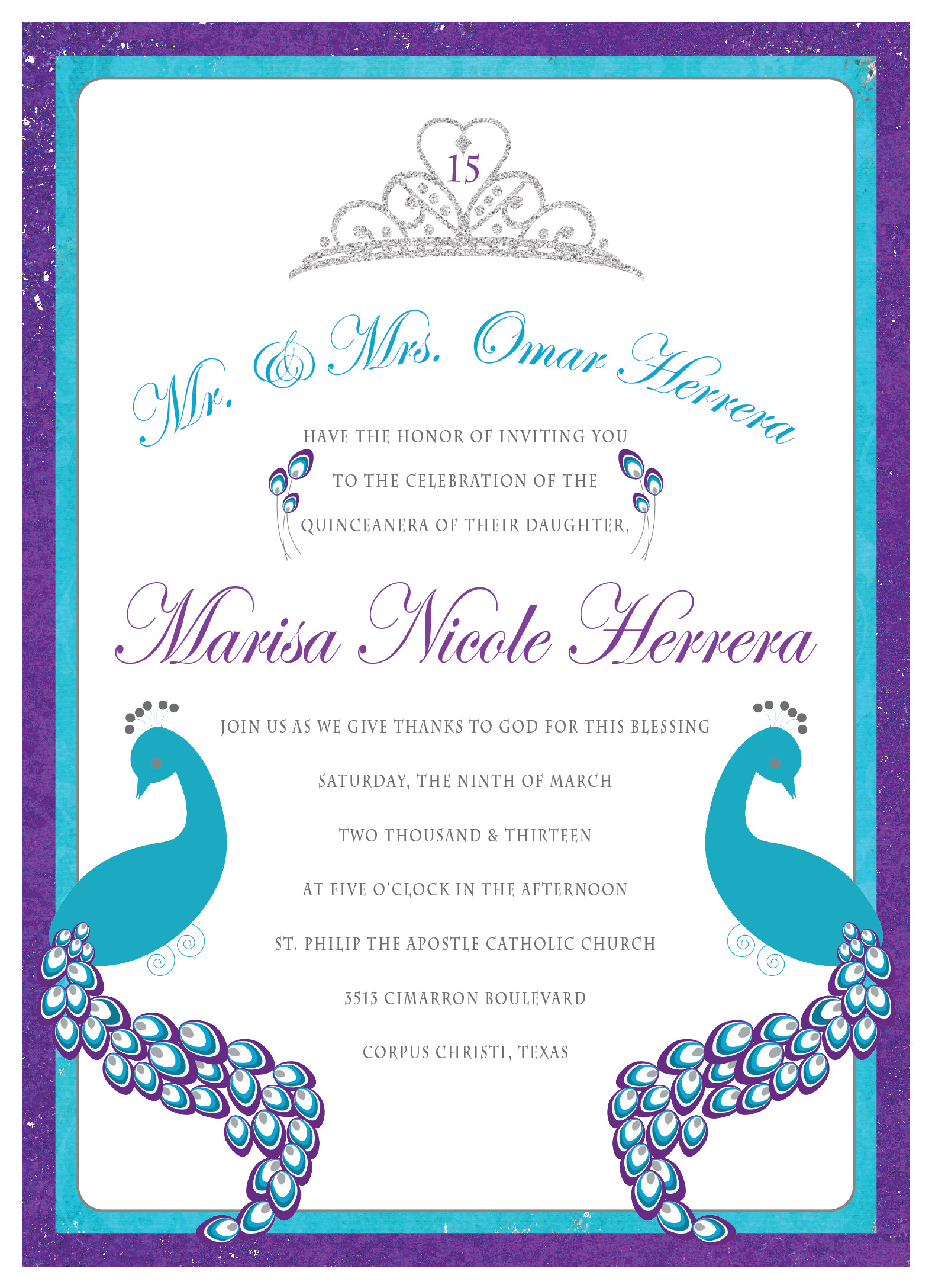 Printable Quinceanera Invitations Free From Ulyssesroom Created With - Free Printable Quinceanera Invitations