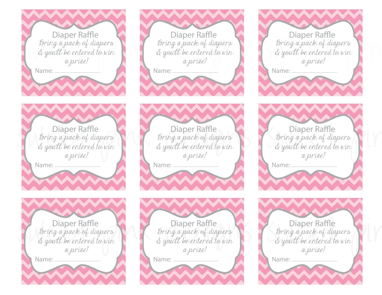 Printable Raffle Tickets Template. Sample Printable Raffle Ticket - Free Printable Bridal Shower Raffle Tickets