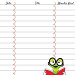 Printable Reading Log For Your Children   Ever After In The Woods   Free Printable Reading Logs For Children