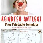 Printable Reindeer Antlers Hat | Printable Crafts | Christmas Crafts   Free Printable Crafts For Preschoolers