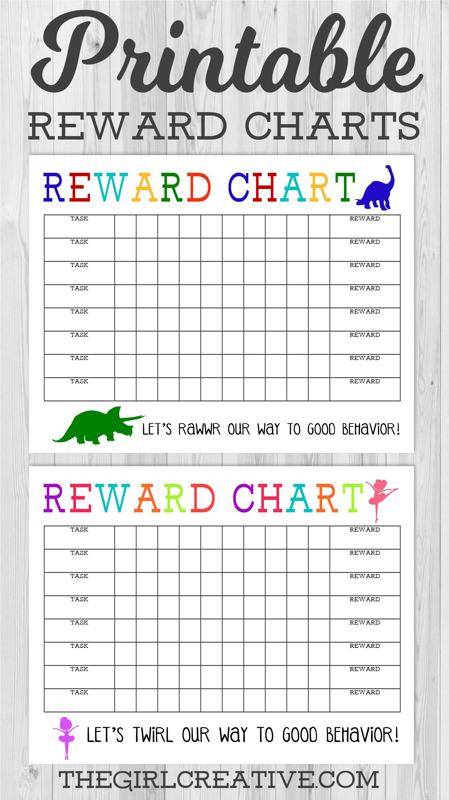 Printable Reward Chart - The Girl Creative - Free Printable Incentive Charts For School
