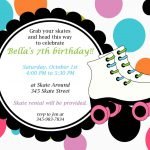 Printable Roller Skating Invitations | Birthday Ideas In 2019   Free Printable Skating Invitations