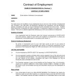 Printable Sample Employment Contract Sample Form | Laywers Template   Free Printable Employment Contracts