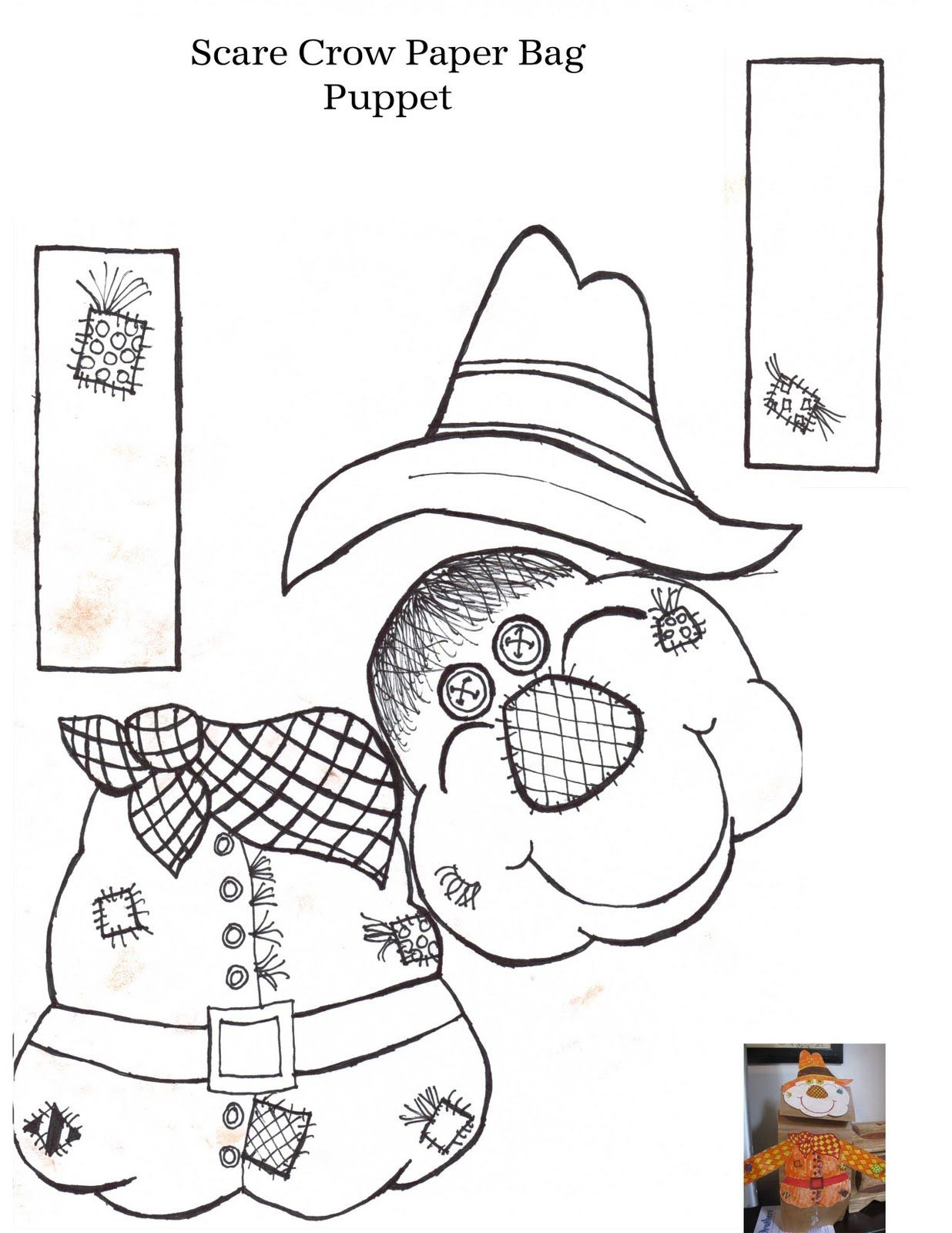 Free Printable Scarecrow Coloring Pages For Kids | Clip ...