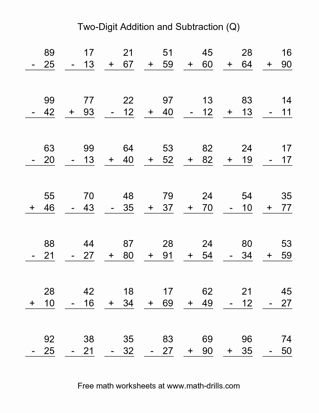 Printable Second Grade Math Worksheets To Free Download - Math - Free Printable Second Grade Worksheets