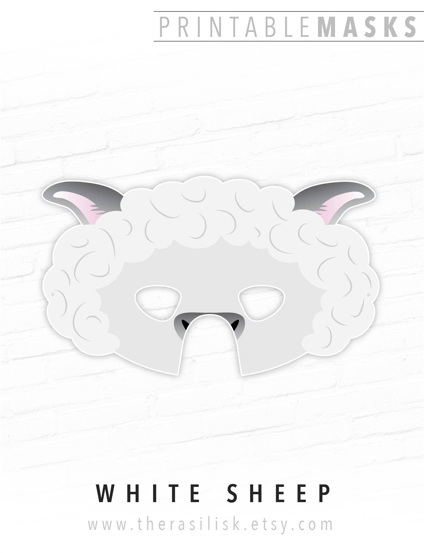Printable Sheep Mask Living Nativity Set Mask Easter Mask | Etsy - Free Printable Sheep Mask