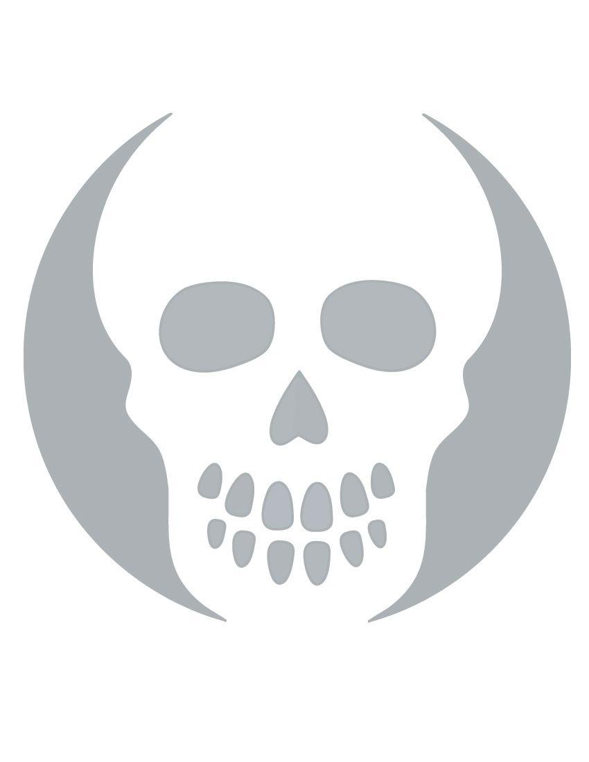 Printable Skull Stencil Coolest Free Printables   Halloween   Skull - Skull Stencils Free Printable