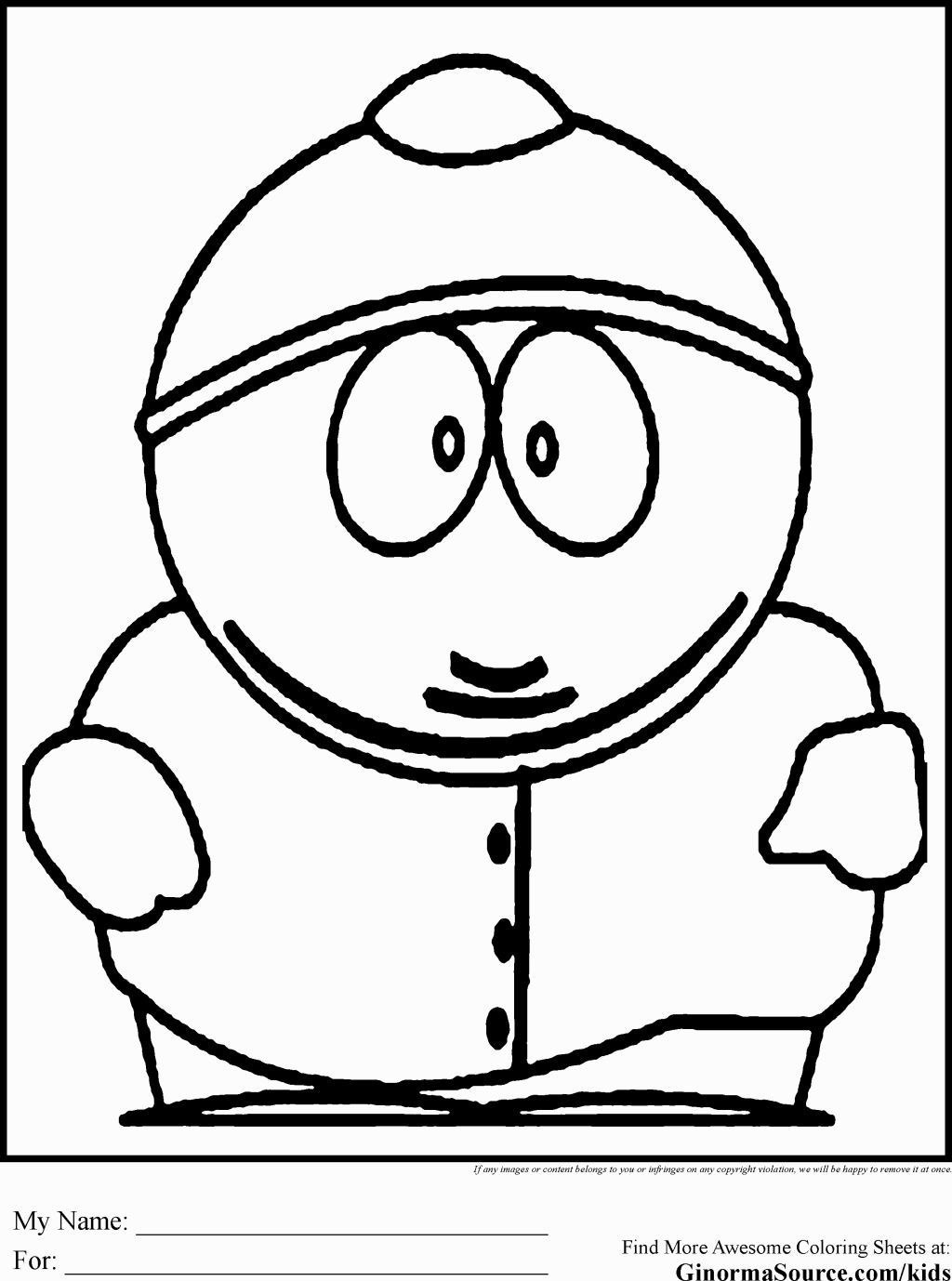 Printable South Park Coloring Pages - Coloring Home - Free Printable South Park Coloring Pages