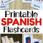 Printable Spanish Flashcards   Look! We're Learning!   Free Printable Vocabulary Flashcards