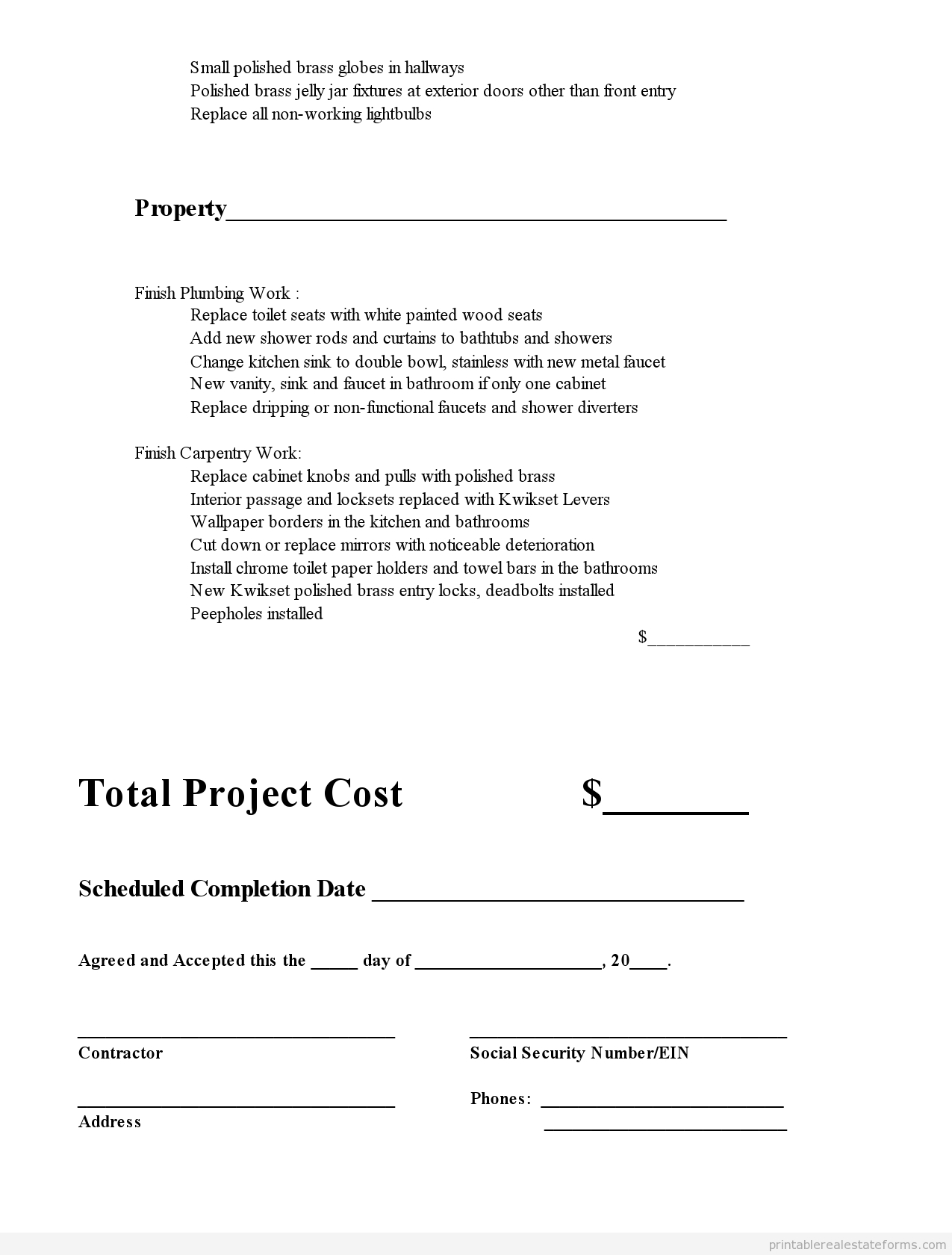 Printable Subcontractor Agreement Template 2015 | Sample Forms 2015 - Free Printable Subcontractor Agreement