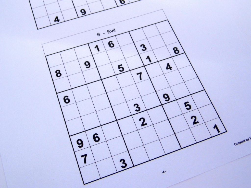 Printable Sudoku 6 To A Page   Printable Sudoku Free - Free Printable Sudoku 6 Per Page