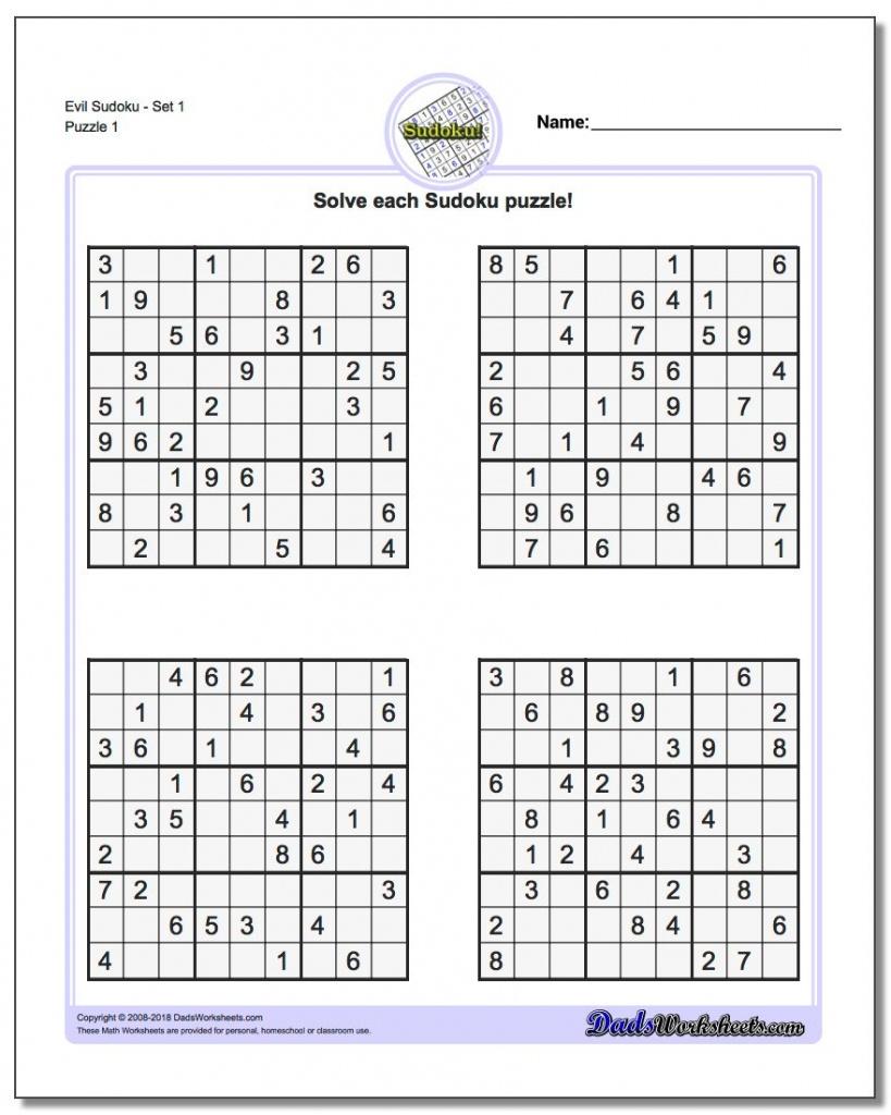 Printable Sudoku Four Per Page   Printable Sudoku Free - Free Printable Sudoku 6 Per Page