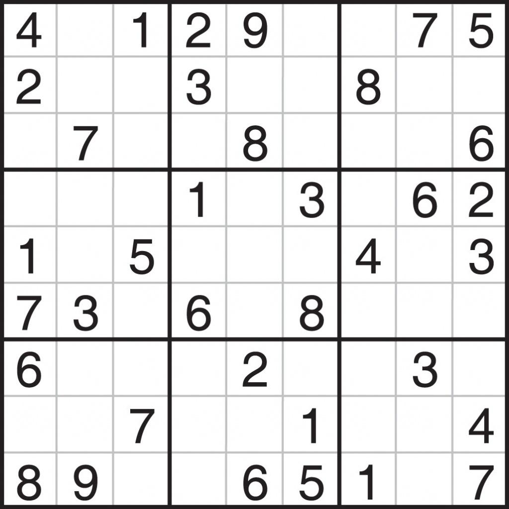 Printable Sudoku Puzzles Pdf | Printable Sudoku Free - Free Printable Sudoku Pdf