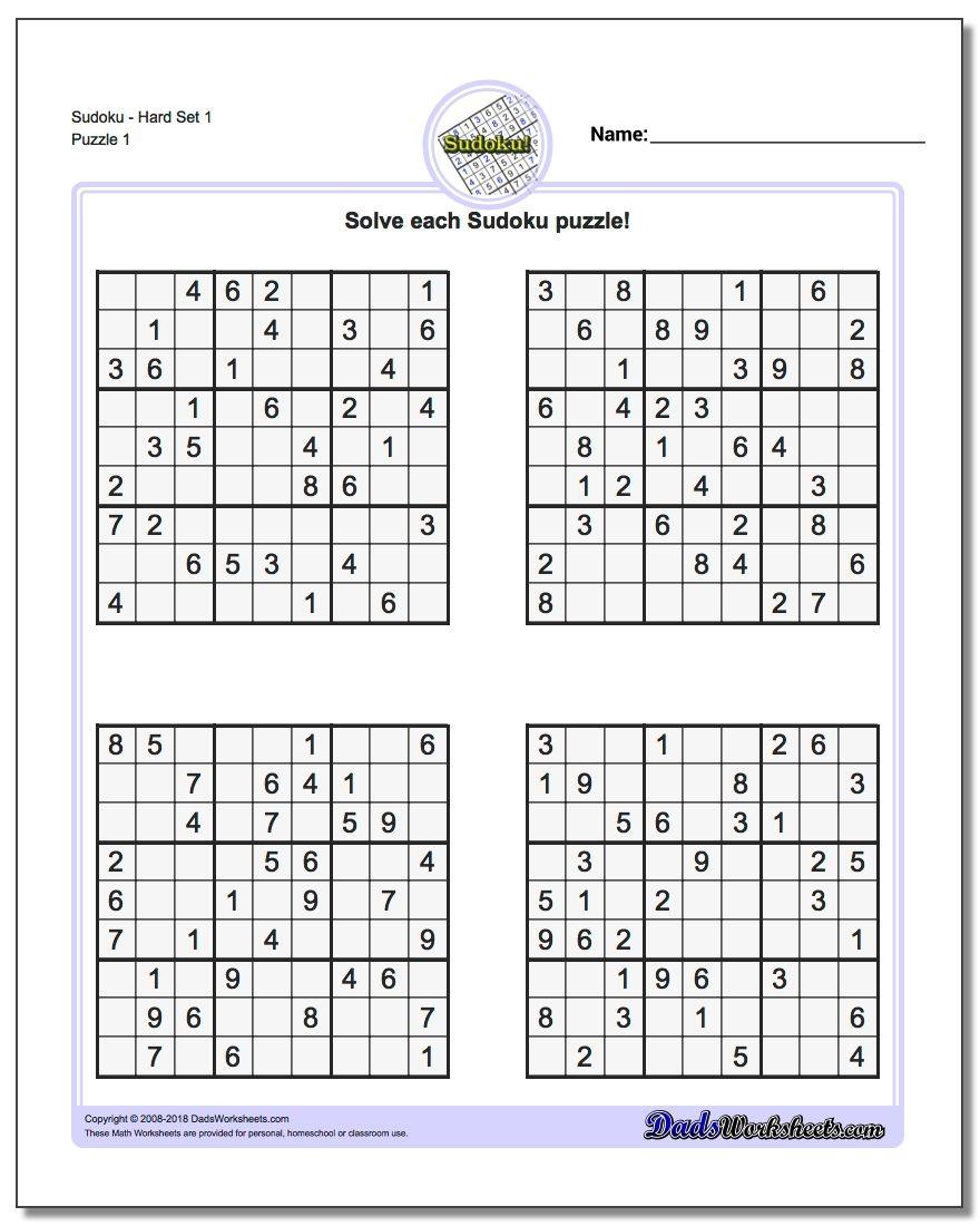 Printable Sudoku Puzzles | Room Surf - Free Printable Sudoku With Answers