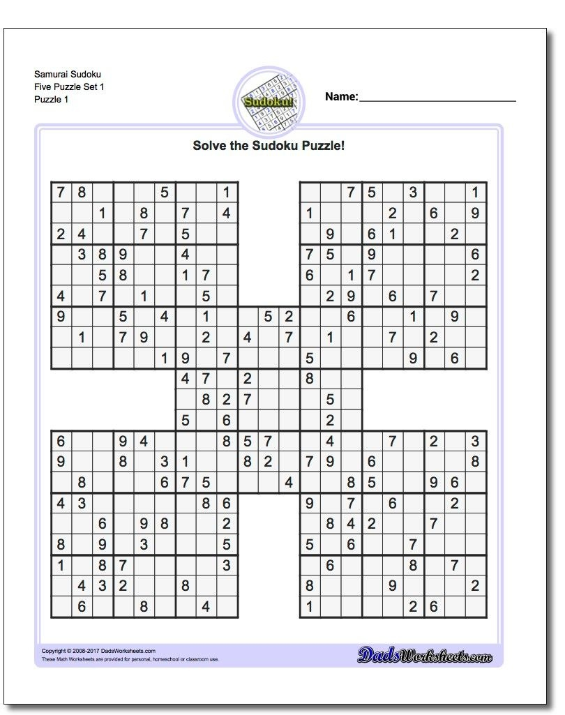 Printable Sudoku Samurai! Give These Puzzles A Try, And You'll Be - Free Printable Sudoku With Answers