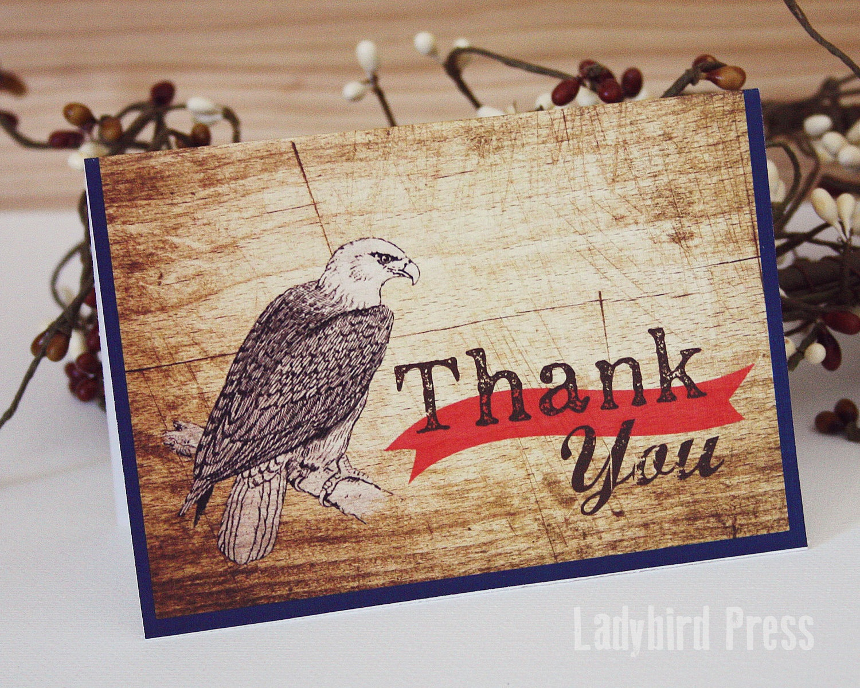 Printable Thank You Card Boy Scout Eagle Thank You Card   Etsy - Eagle Scout Cards Free Printable