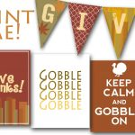 Printable Thanksgiving Banners – Happy Easter & Thanksgiving 2018   Free Printable Happy Thanksgiving Banner