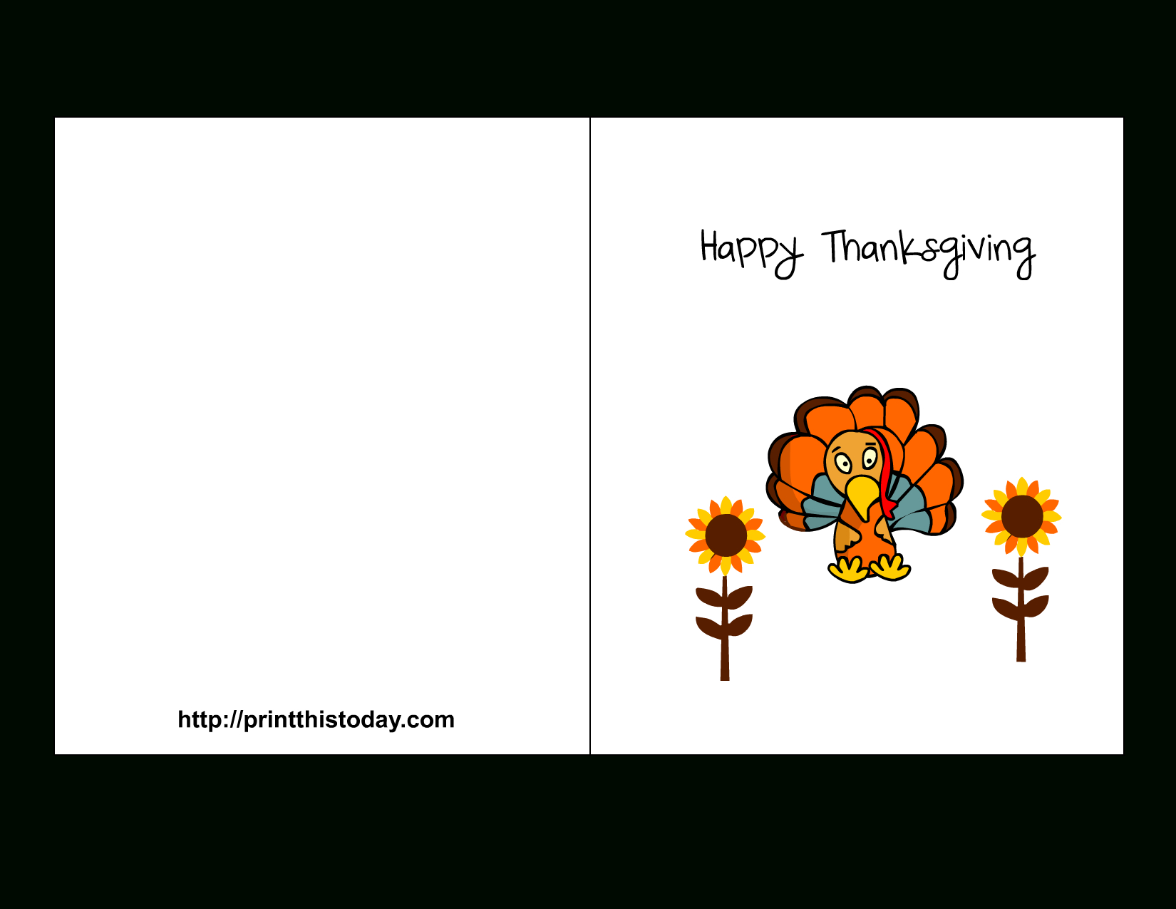 Printable Thanksgiving Card | Events | Free Printable Calendar - Happy Thanksgiving Cards Free Printable