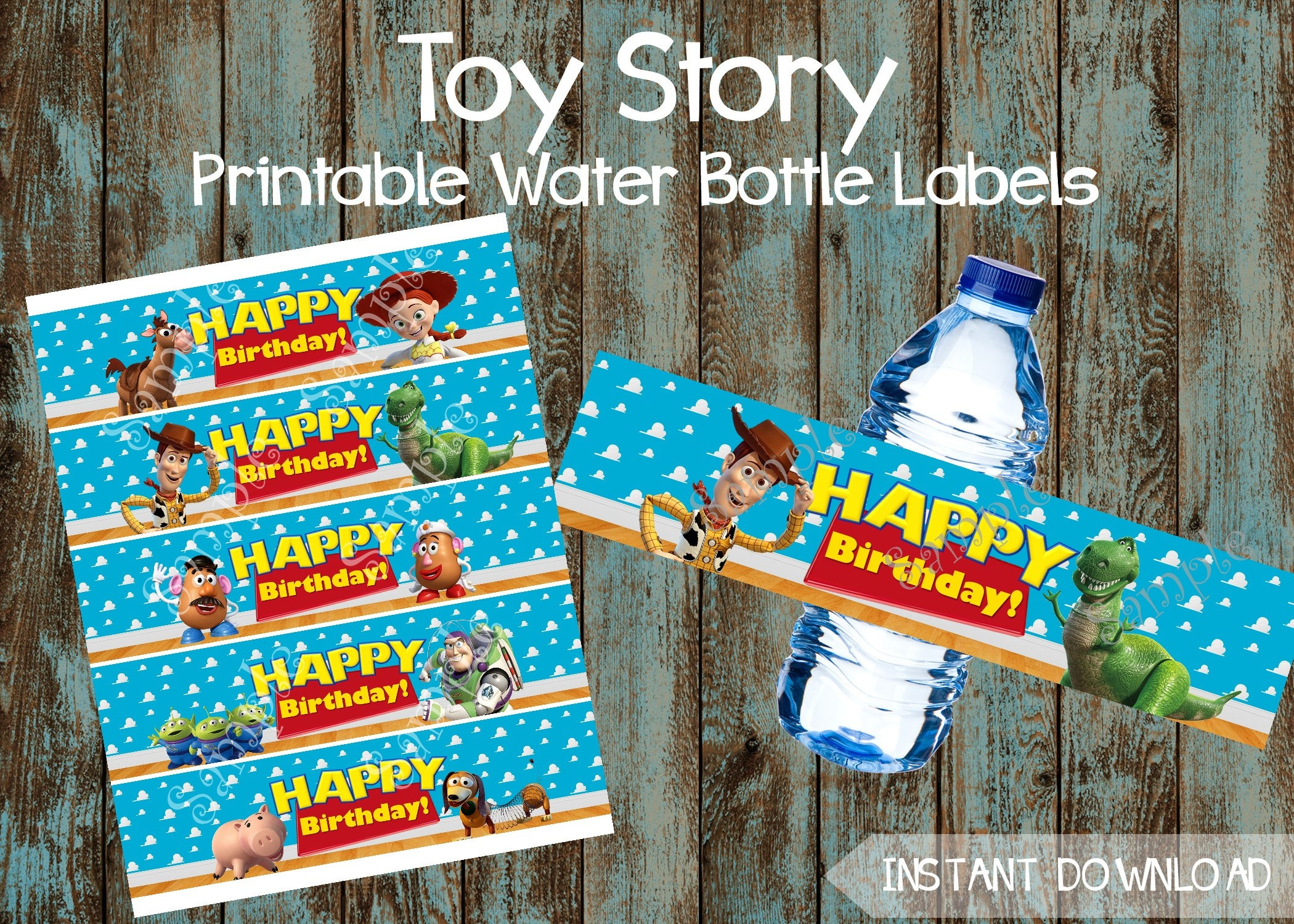 Printable Toy Story Water Bottle Labels Toy Story Lables Toy   Etsy - Free Printable Toy Story Water Bottle Labels