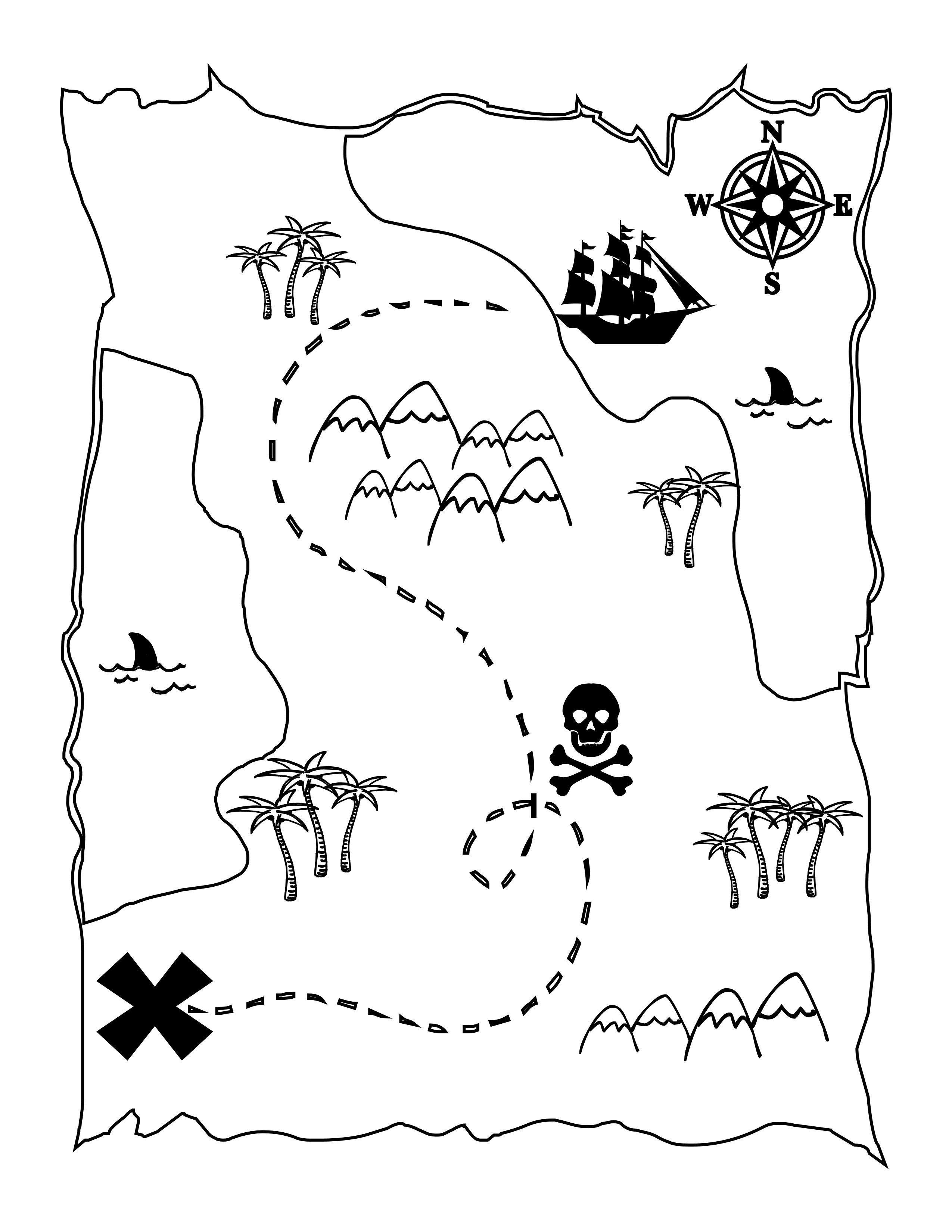 Printable Treasure Map Kids Activity   Printables   Pirate Maps - Free Printable Pirate Maps