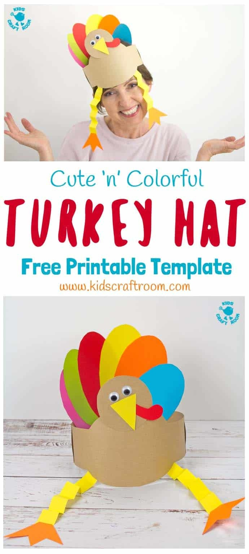 Printable Turkey Hat Craft - Kids Craft Room - Free Printable Thanksgiving Hats