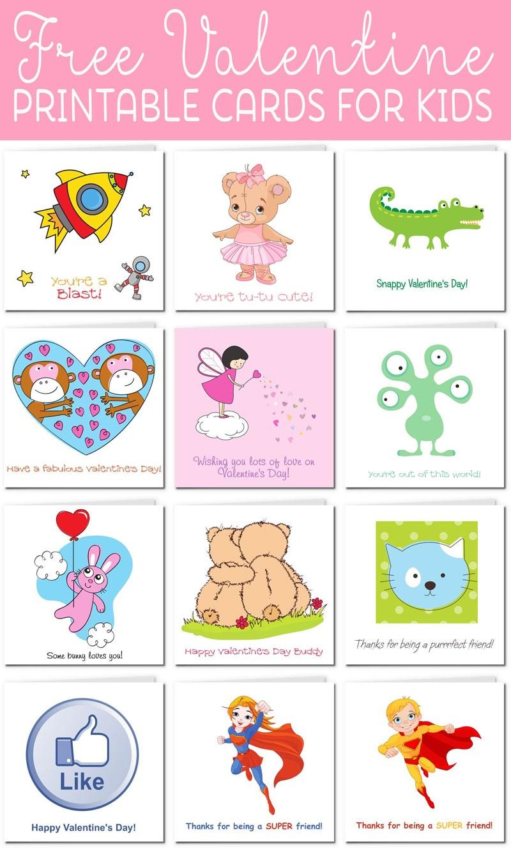Printable Valentine Cards For Kids - Free Printable Valentine Cards For Kids