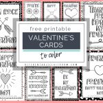 Printable Valentine Cards To Color   The Kitchen Table Classroom   Valentine Free Printable Cards