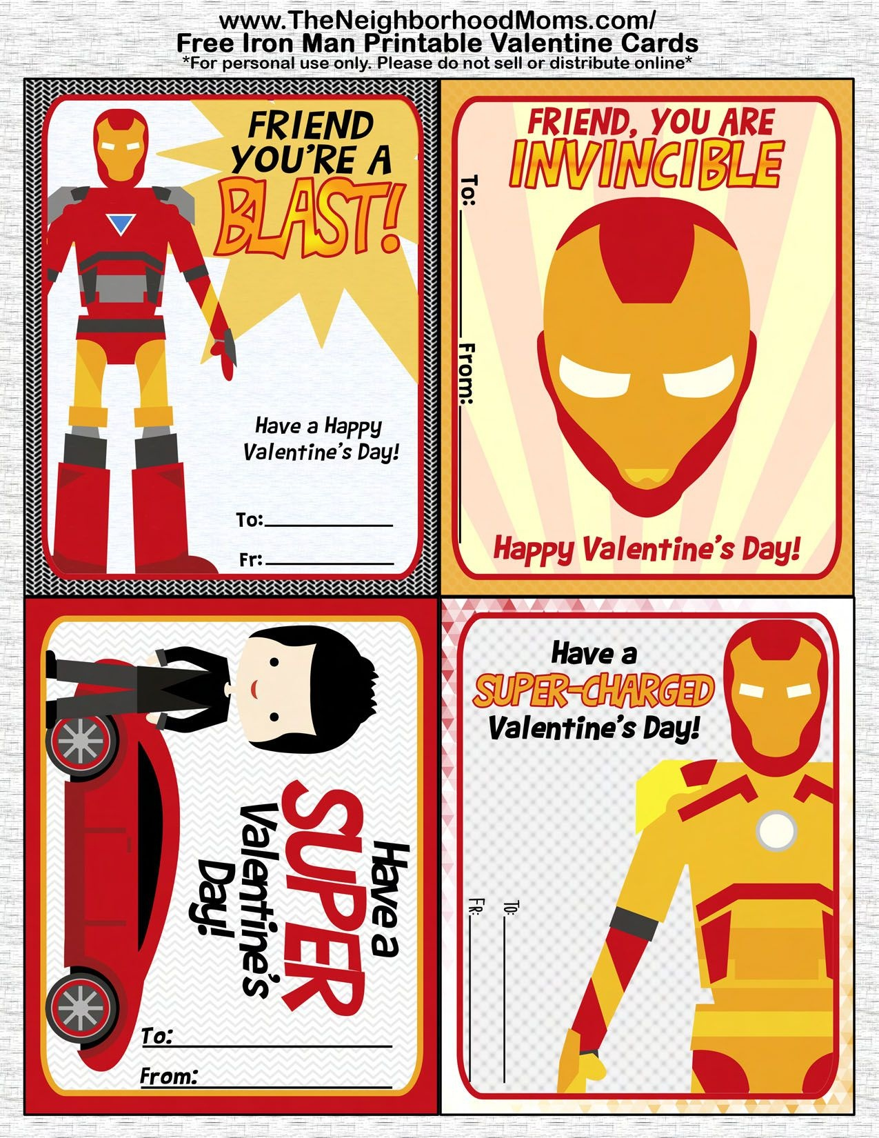 Printable Valentine's Cards | Valentine's Day Crafts And Recipes - Free Printable Superman Valentine Cards
