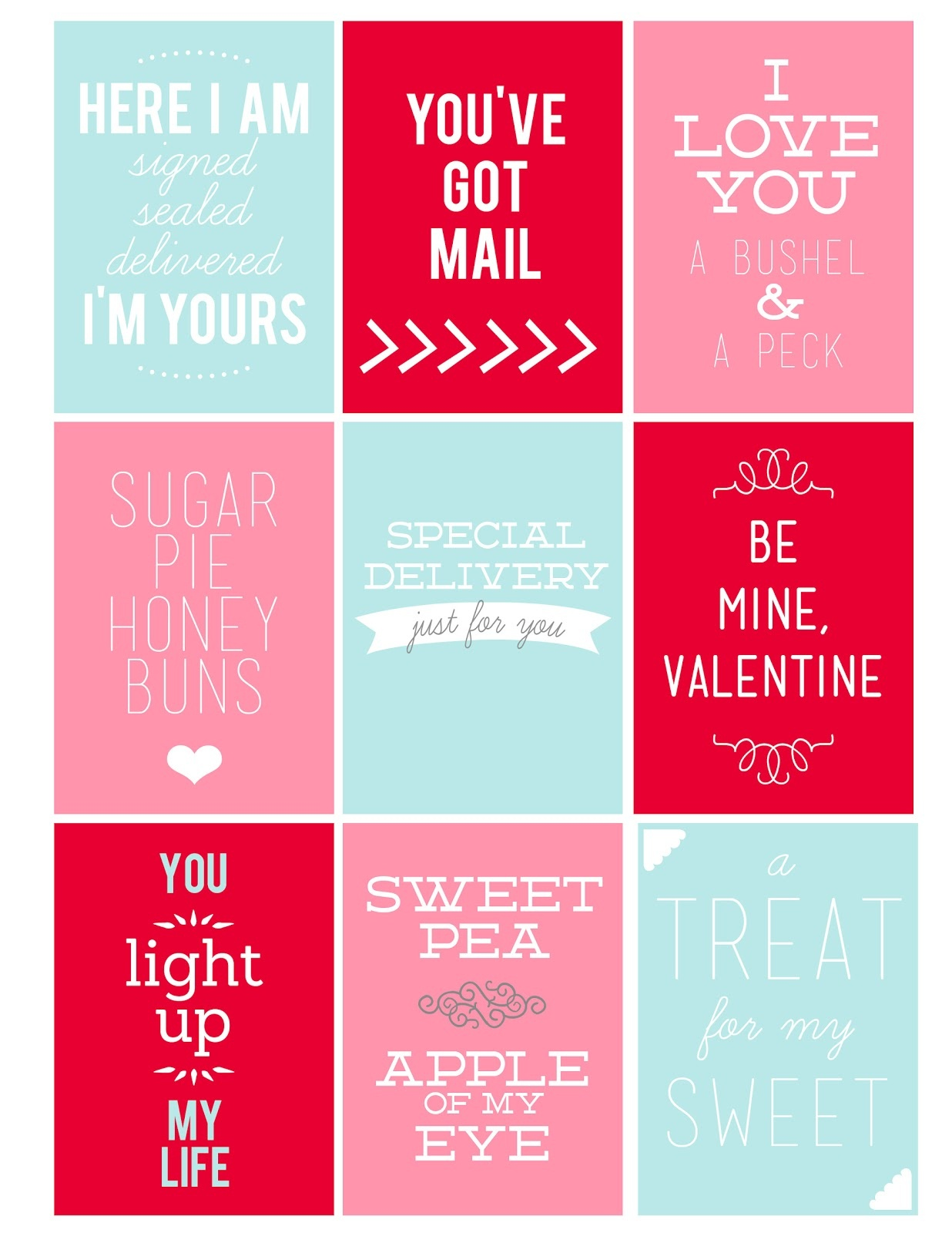 Printable Valentine's Day Tags - My Sister's Suitcase - Packed With - Free Printable Valentine Tags