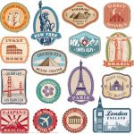 Printable Vintage Travel Stickers   Free Printable Papercraft Templates   Free Printable Old Fashioned Labels