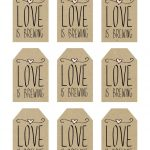 Printable Wedding Favor Tags, Love Is Brewing Printable Tags   Free Printable Wedding Favor Tags
