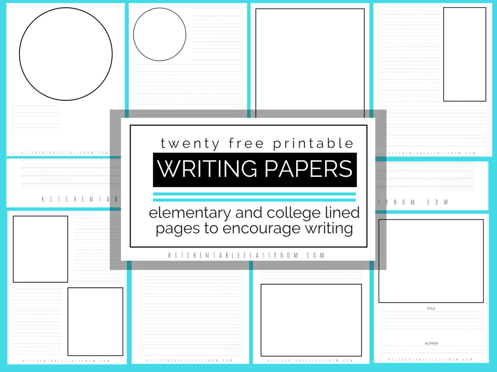 Printable Writing Paper For Kids- Twenty Versions Of Lined Paper To - Free Printable Writing Paper