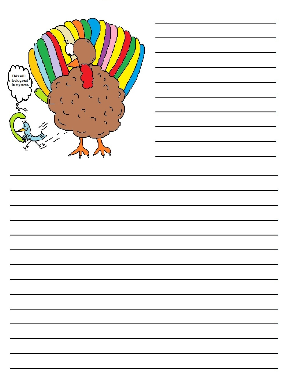 Printable Writing Papers For Thanksgiving – Happy Easter - Free Printable Thanksgiving Writing Paper