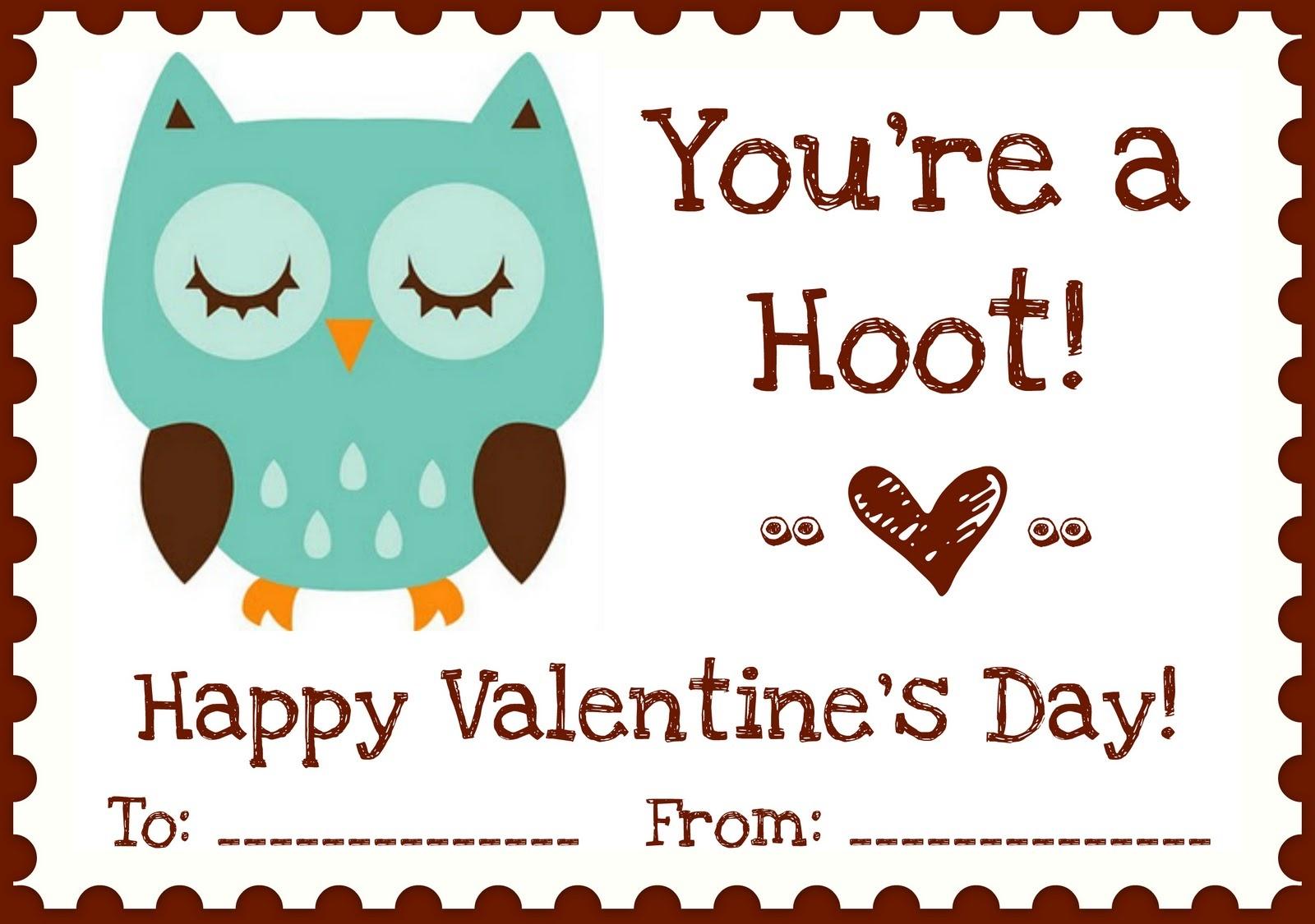 "Printables} ""owl Love You"" Valentines | A Night Owl Blog - Free Printable Owl Valentine Cards"