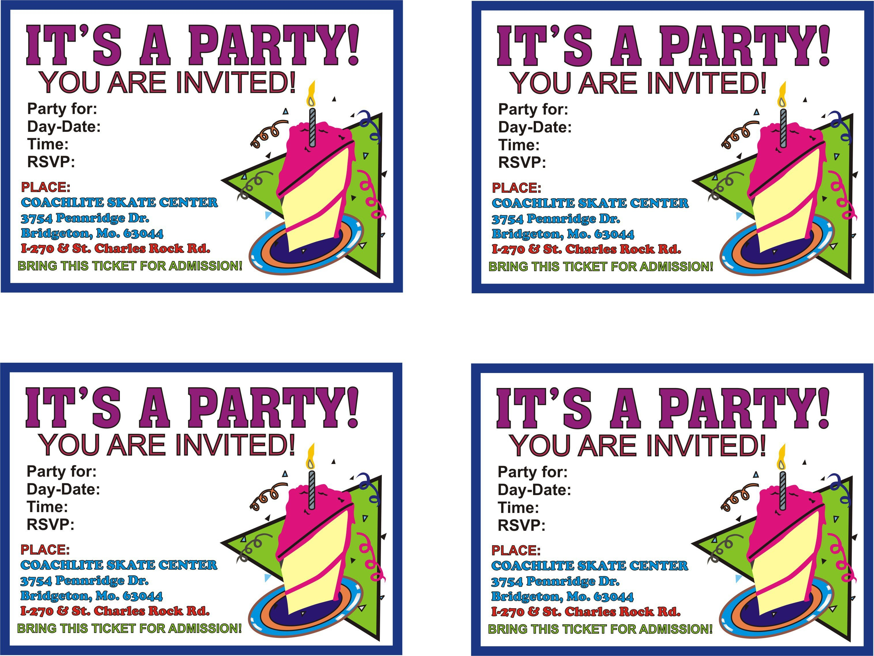 Printed Party Invitations Online - Tutlin.psstech.co - Free Printable Birthday Invitation Cards Templates
