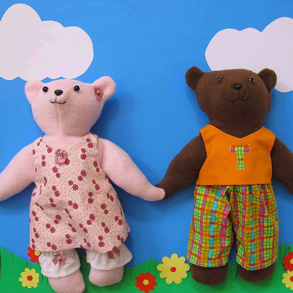 Quick & Easy Dress Up Teddy Bear And Clothing Sewing Pattern Pdf - Free Printable Teddy Bear Clothes Patterns