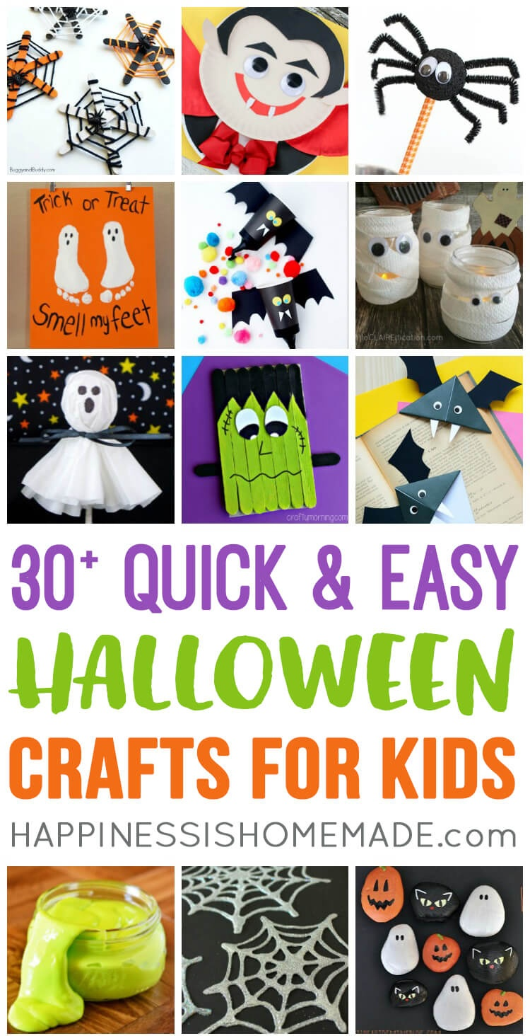 Quick & Easy Halloween Crafts For Kids - Happiness Is Homemade - Halloween Crafts For Kids Free Printable