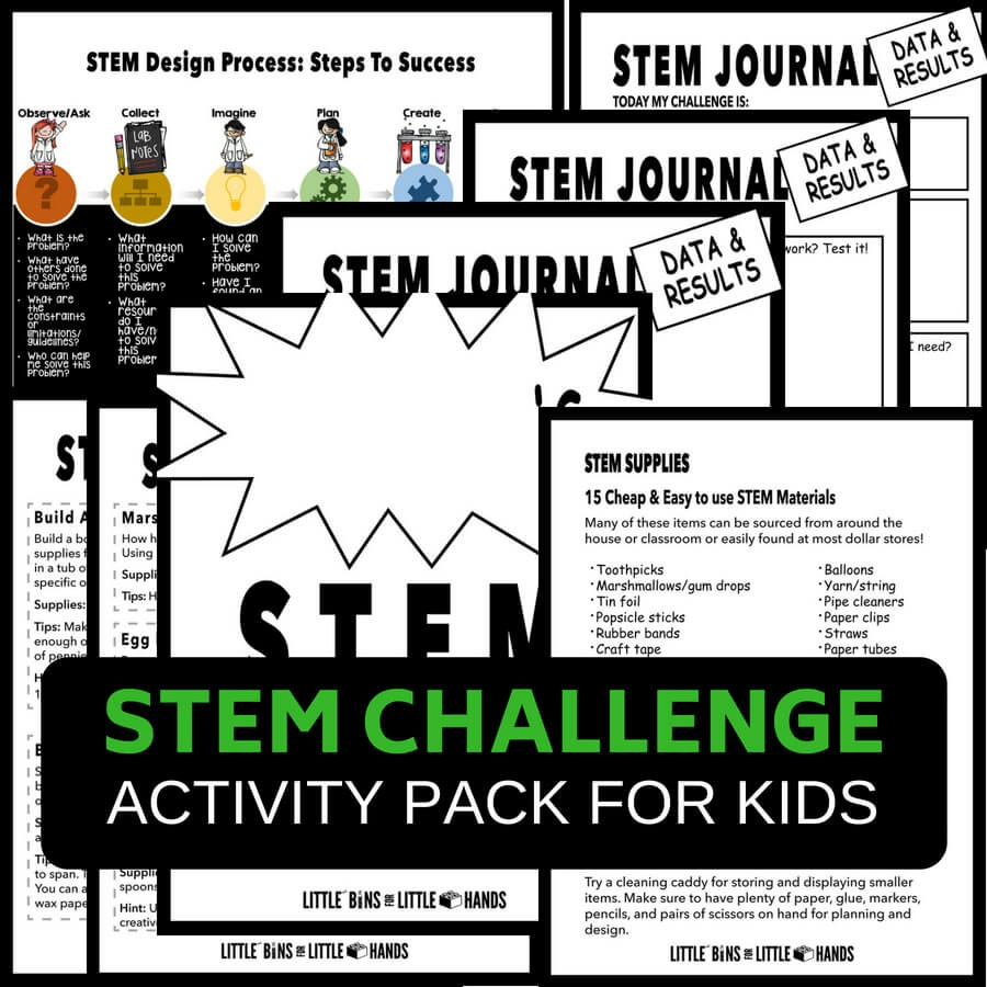 Quick Stem Activities With Free Printable Stem Challenge Pack - Free Printable Stem Activities