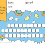 Rainbow & Sky 30 Day Reward Chart For Kids   Free Printable   Free Printable Reward Charts