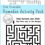 Ramadan Maze And Crossword Printable Activities   In The Playroom   Free Printable Activities For 6 Year Olds