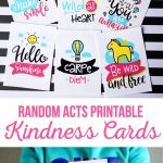 Random Acts Printable Kindness Cards | Kids. | Kindness Projects   Free Printable Kindness Cards