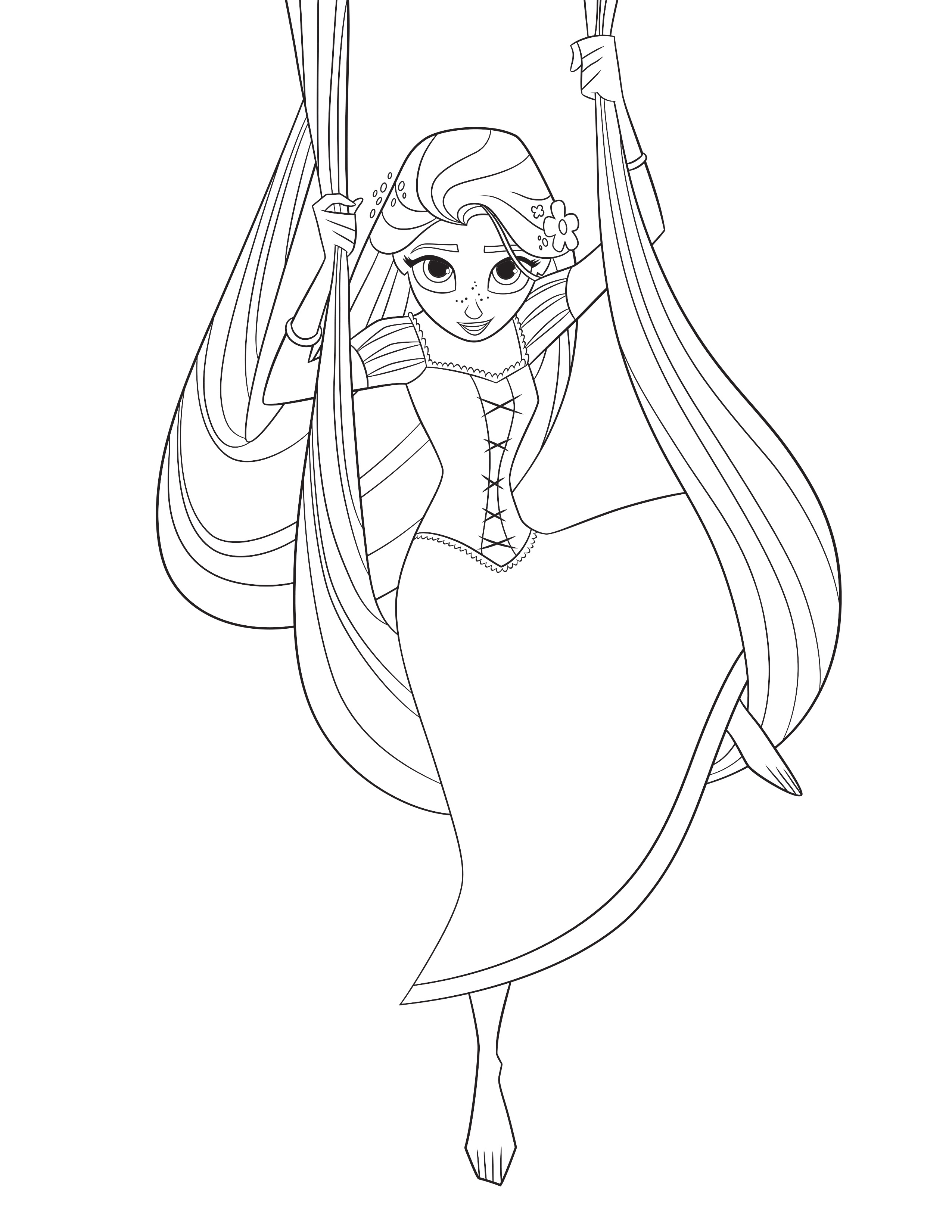 Rapunzel Coloring Pages Tangled The Series Youloveit   Coloring Pages - Free Printable Tangled
